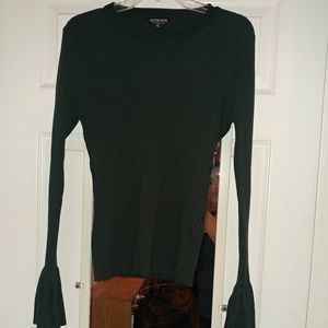 Fashion Nova Green Bell Sleve Sweater